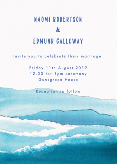 Nautical Waves | Personalised Wedding Invitation