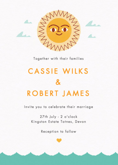 Summer Beach   Personalised Wedding Invitation