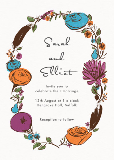 Flora And Fauna | Personalised Wedding Invitation