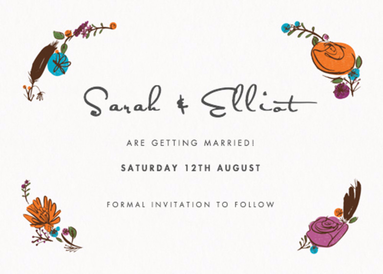 Flora And Fauna | Personalised Save The Date