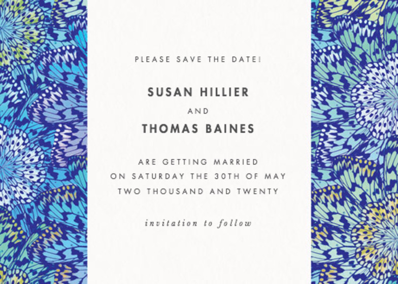 Butterfly Wheel | Personalised Save The Date