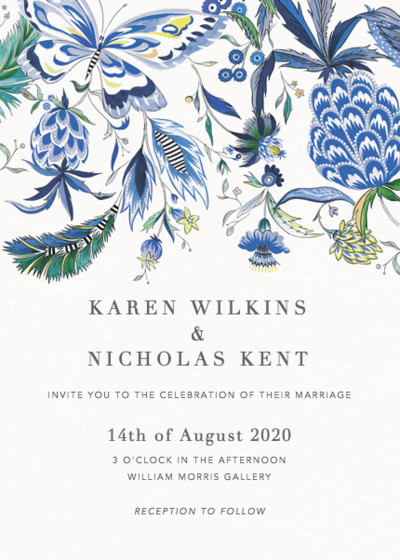 Pineapple Paisley | Personalised Wedding Invitation