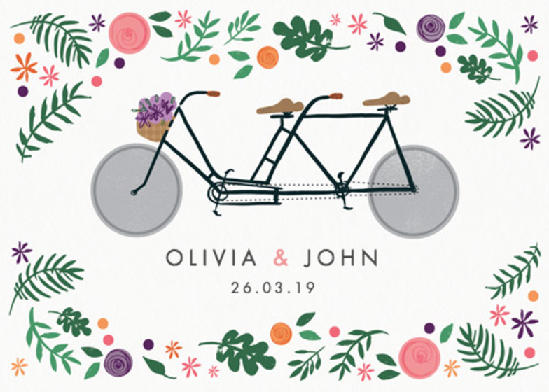 Bike Lovers | Personalised Wedding Invitation