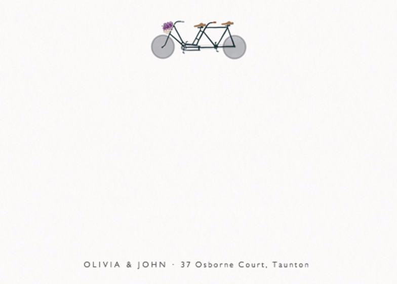 Bike Lovers   Personalised Stationery Set