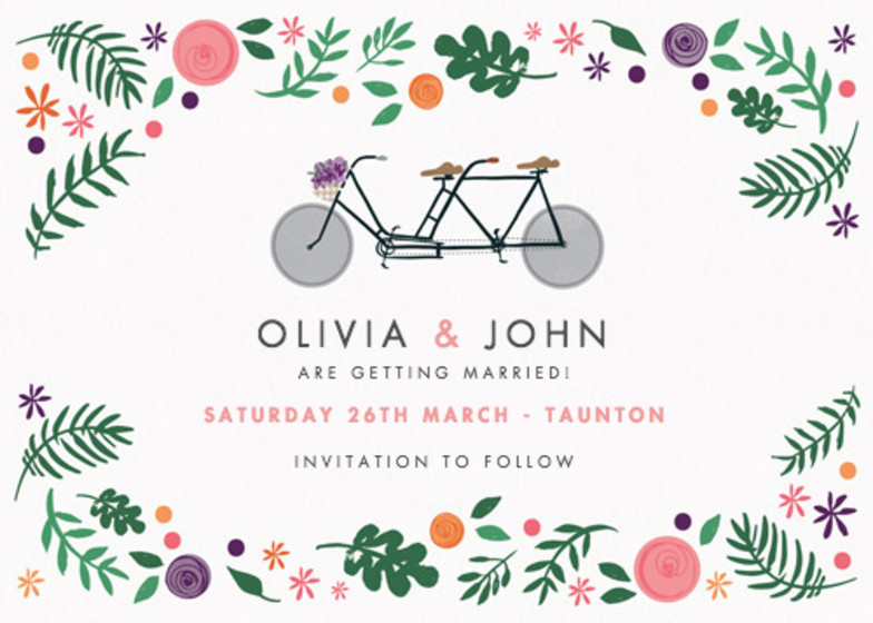 Bike Lovers | Personalised Save The Date
