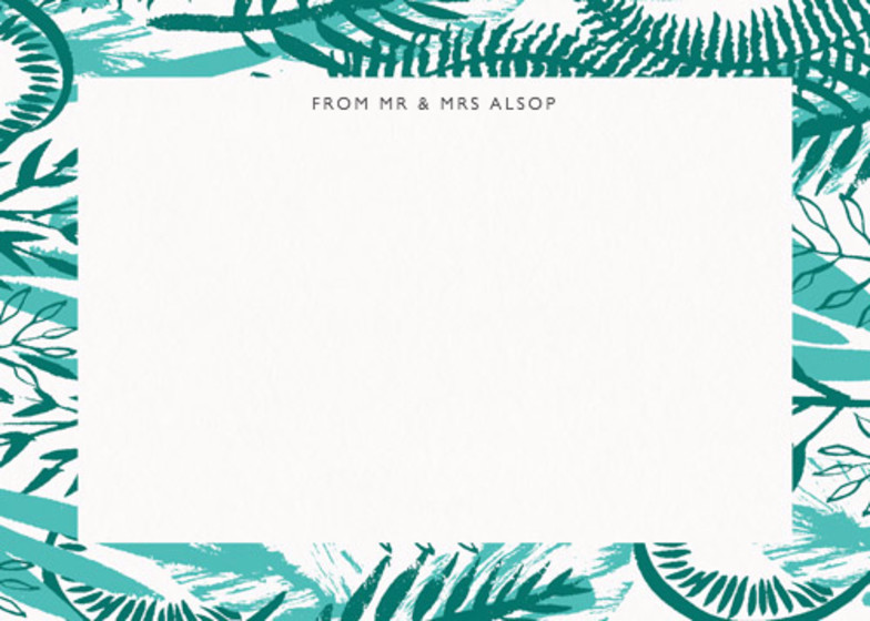 Tropical Foliage | Personalised Stationery Set