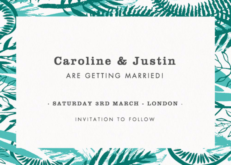 Tropical Foliage | Personalised Save The Date