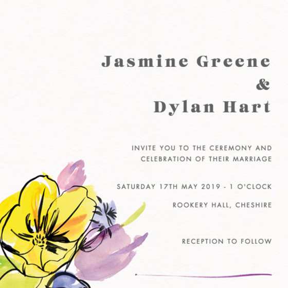 Spring Fete | Personalised Wedding Invitation