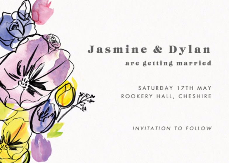 Spring Fete | Personalised Save The Date