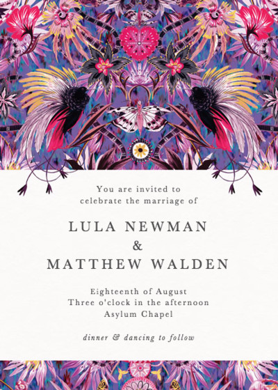 Mother Amazon | Personalised Wedding Invitation