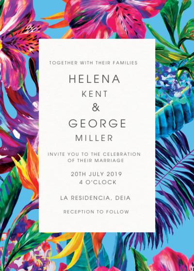 Blue Maracas | Personalised Wedding Invitation