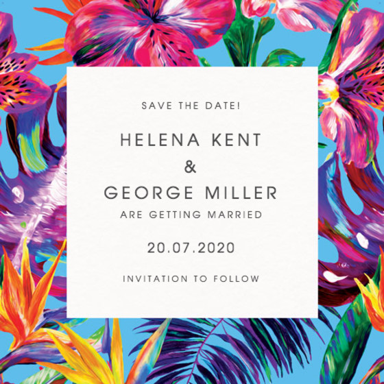 Blue Maracas | Personalised Save The Date