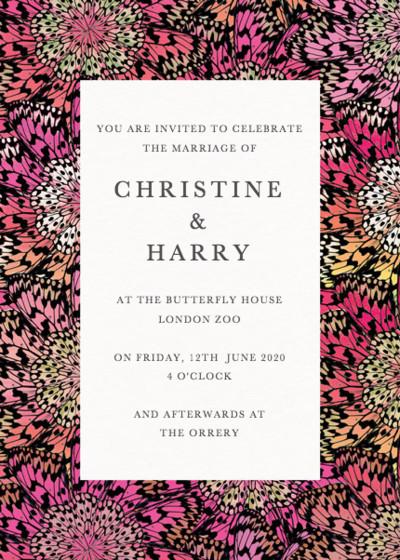 Butterfly Wheel Pink   Personalised Wedding Suite