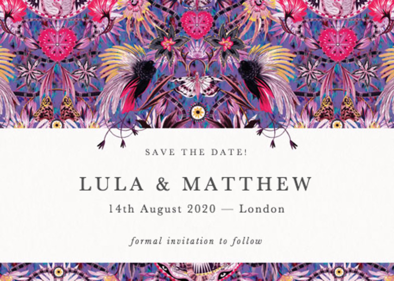 Mother Amazon | Personalised Save The Date