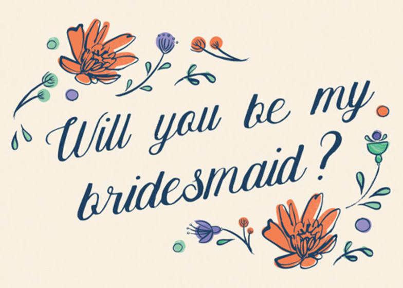 Will You Be My Bridesmaid Floral | Personalised Greeting Card