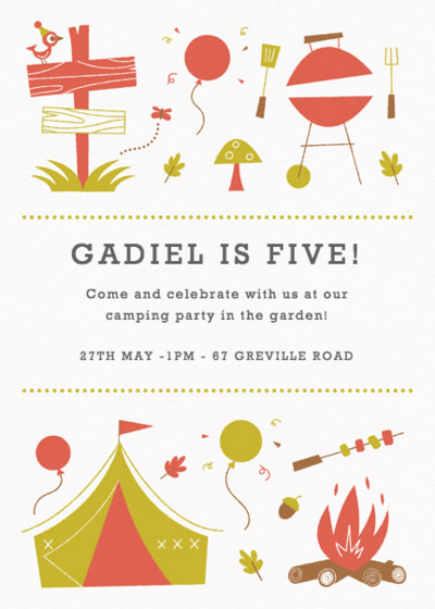 Camp Fire | Personalised Party Invitation