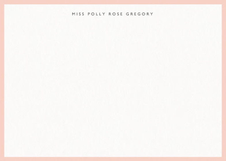 Blush Border | Personalised Stationery Set