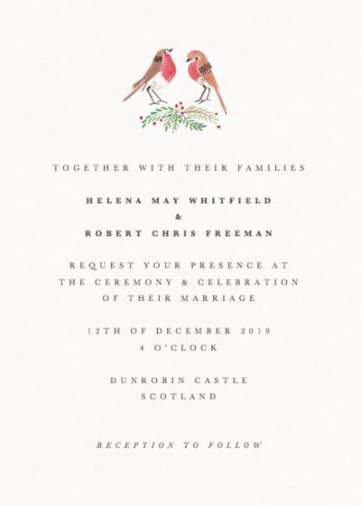 Robins | Personalised Wedding Invitation