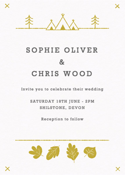 Summer Camp | Personalised Wedding Invitation