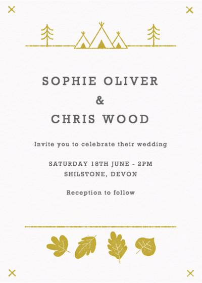 Summer Camp | Personalised Wedding Invitation