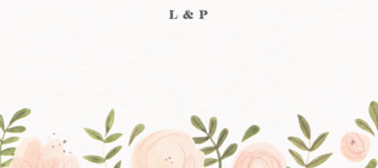Blush Florals   Personalised Place Name