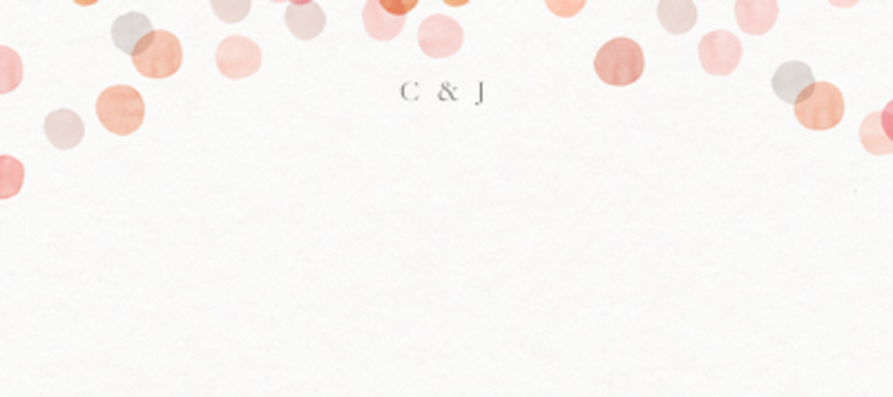 Blush Confetti   Personalised Place Name