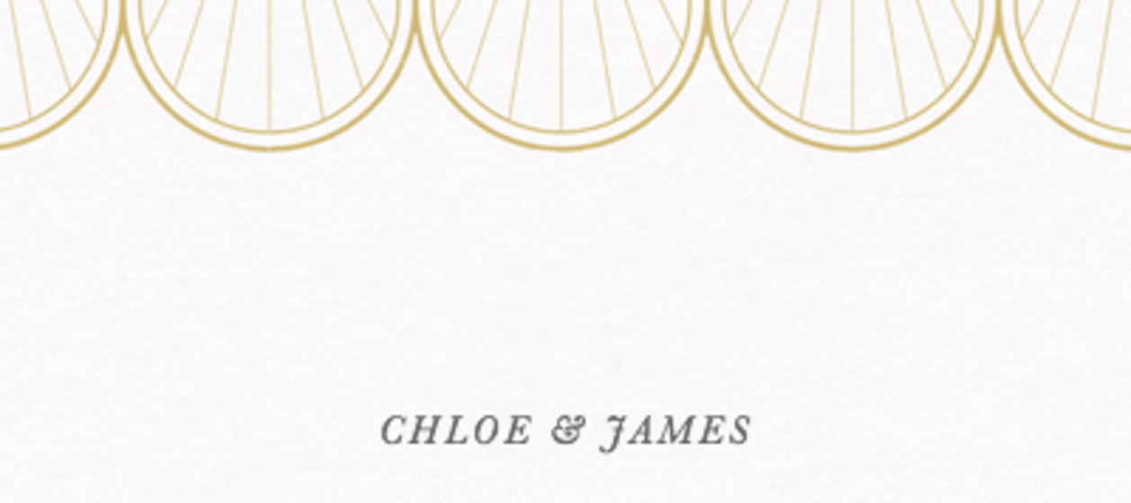 Gold Scallop | Personalised Place Name