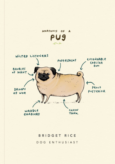 Anatomy Of A Pug | Personalised Lined Notebook