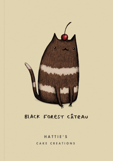 Black Forest Câteau | Personalised Lined Notebook