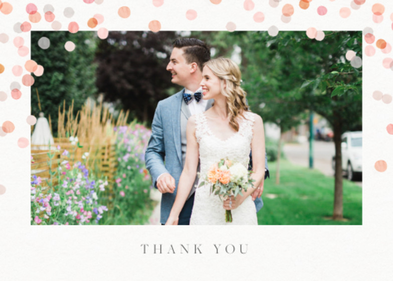 Blush Confetti | Personalised Photo Card Set