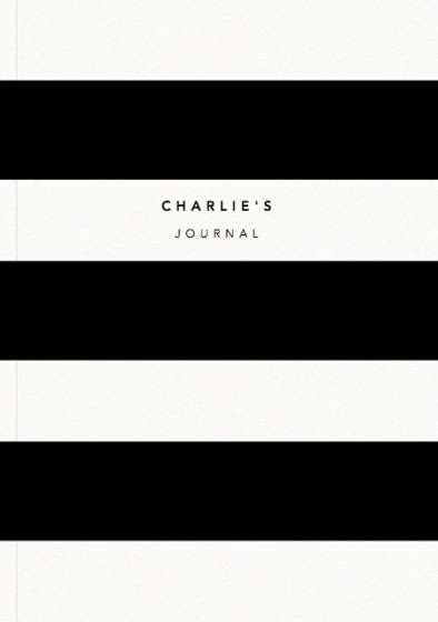 Black Stripe | Personalised Lined Notebook
