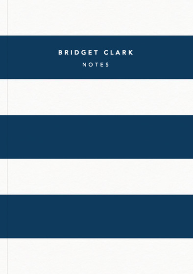 Navy Stripe | Personalised Lined Notebook