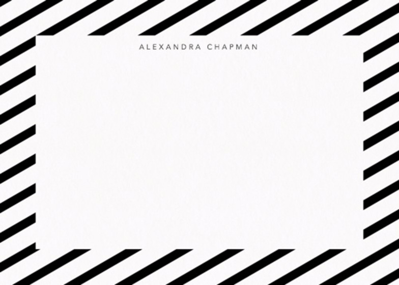 Diagonal Stripe   Personalised Stationery Set