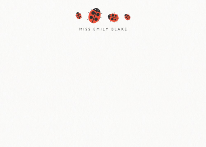 Ladybirds | Personalised Stationery Set