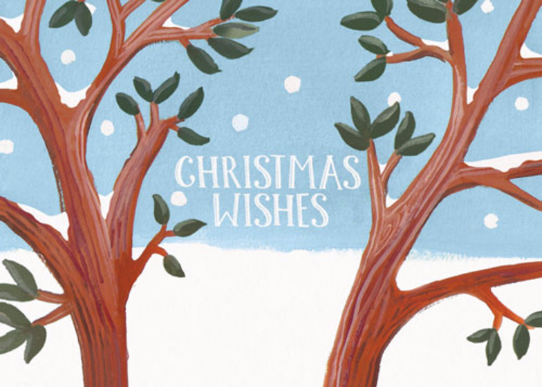 Snowy Branches | Personalised Christmas Card Set
