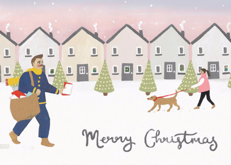 Jolly Postman | Personalised Christmas Card Set