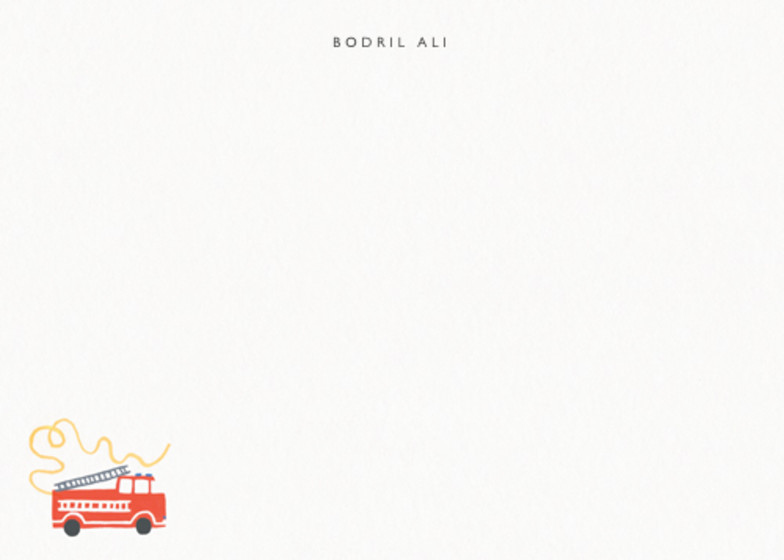Fire Engine | Personalised Stationery Set