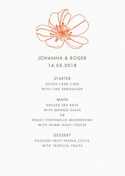 Red Hibiscus | Personalised Menu
