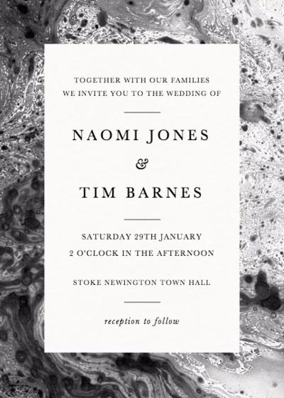 Marbre | Personalised Wedding Invitation