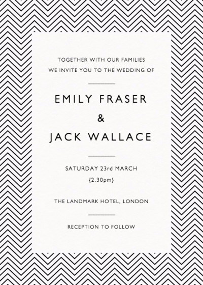 Mini Chevron | Personalised Wedding Invitation