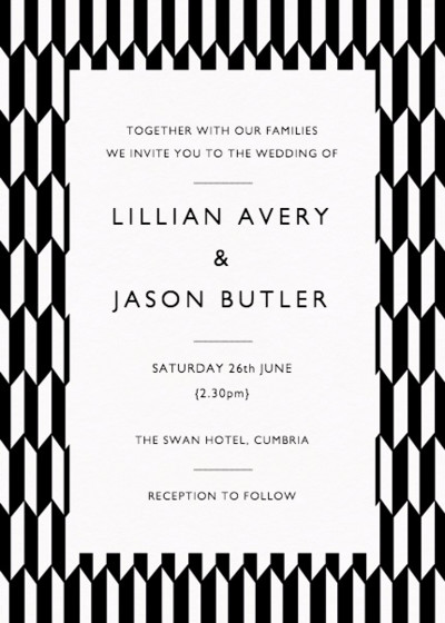 Illusion | Personalised Wedding Invitation
