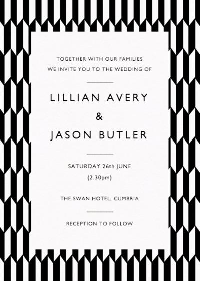 Illusion | Personalised Wedding Invitation