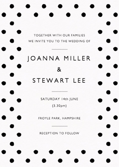 Painted Polka Dot | Personalised Wedding Invitation