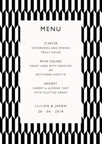 Illusion | Personalised Menu