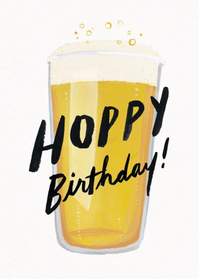 Hoppy Birthday | Personalised Birthday Card