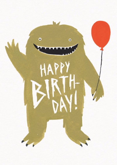 Monster Birthday | Personalised Birthday Card