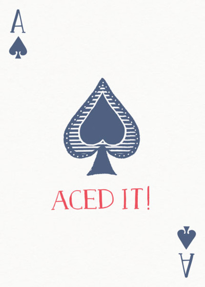 Aced It! | Personalised Greeting Card