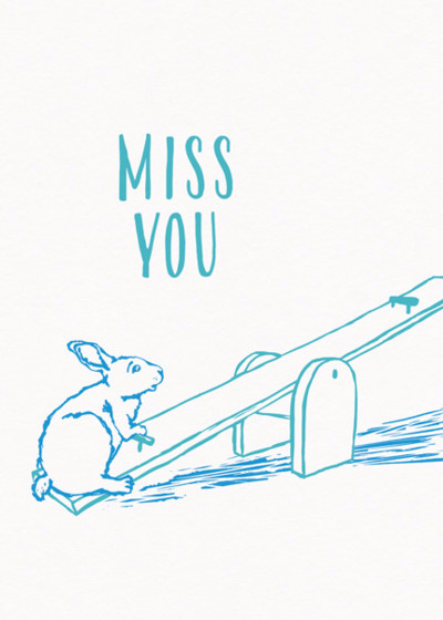 Lonely Seesaw | Personalised Greeting Card