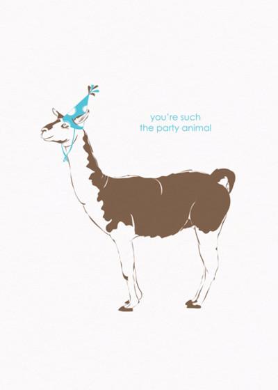 Birthday Llama | Personalised Birthday Card
