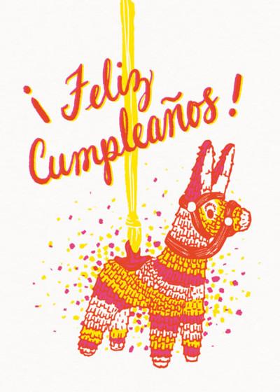 Feliz Cumpleaños   Personalised Birthday Card